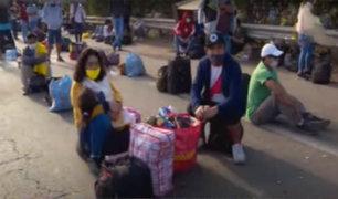 Covid-19: decenas de personas piden ayuda para volver a sus regiones