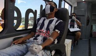 Hinchas de Alianza Lima se suman a campaña de donación de sangre