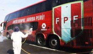 Bus de la selección peruana fue desinfectado luego de transportar a personal médico