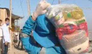 Carabayllo: municipalidad repartió canastas a familias vulnerables