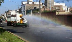 Calles de La Molina son desinfectadas con novedoso equipo llamado 'Molicañón'