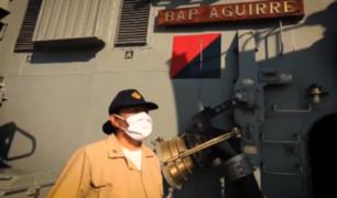 """""""¡En este buque nadie se rinde!"""": el mensaje de aliento de una técnico de la Marina"""