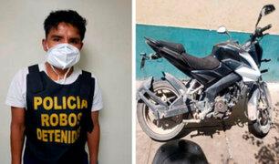 Carabayllo: capturan a integrante de banda dedicada a robar motos