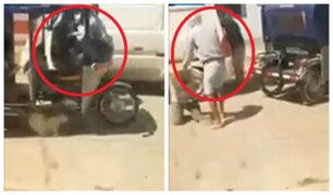 Piura: captan a tres ladrones asaltando una miniván en menos de un minuto