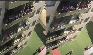 Cuarentena: Vecinos de Magdalena cantaron feliz cumpleaños a vigilante