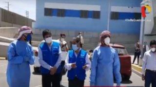 COVID-19: empresario Árabe dona túnel de desinfección a hospital de Trujillo