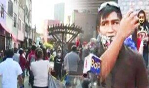 SMP: cientos de personas se concentran en el mercado Caquetá en medio del desorden