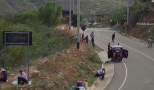 Ciudadanos que intentan llegar a Cajamarca son impedidos de continuar su camino