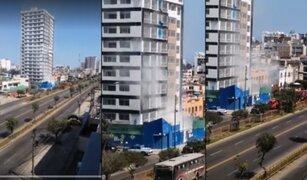 Jesús María: reportan amago de incendio en edificio ubicado en avenida Brasil