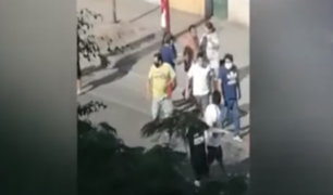 SMP: pandilleros se enfrentan a pedradas en pleno estado de emergencia