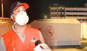 La Victoria: instalan carpas en Plaza Manco Cápac para familias varadas que quieren llegar a Piura