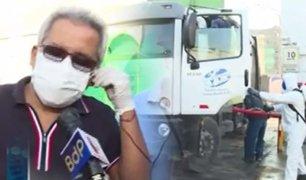 Comas: recolectores de basura toman extremas medidas de seguridad ante el COVID-19