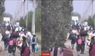 Tacna: Cientos de personas emprendieron caminata por la Costanera Sur con destino a Lima