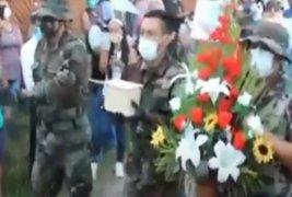 Tingo María: entregan cenizas de policía que falleció por COVID-19