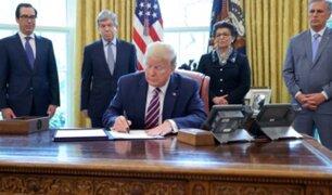 Donald Trump promulgó nuevo paquete de ayuda por $ 483.000 millones por la pandemia