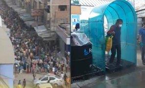 Municipalidad de Carabayllo instaló cámara desinfectante en mercado La Cumbre