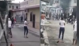 Golpean a dos policías durante operativo en Guayaquil para hacer respetar cuarentena