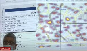 Mapa de Calor: Herramienta de EsSalud identifica las principales vías de contagio del Covid-19