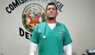 Tacna: detienen a extranjero que se hacía pasar como médico traumatólogo
