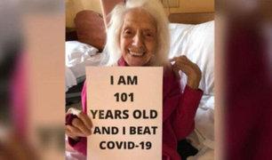 ¡Increíble!: Mujer de 101 años sobrevivió a gripe española, cáncer y ahora al coronavirus