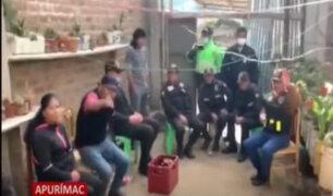 Apurímac: detienen a serenos que se habían reunido en casa para beber licor en pleno aislamiento social