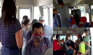 Covid-19: Pasajeros no respetan distanciamiento social en buses y combis