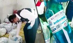 Comas: intervienen locales donde elaboraban jabón líquido y alcohol en gel de dudosa procedencia