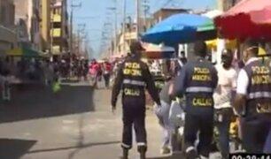 """Callao: serenos realizan operativo en el mercado """"La Paradita"""""""