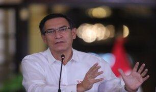 Presidente Vizcarra: No hay motivos para división entre el Ejecutivo y el Congreso