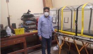 Lambayeque: estudiante de ingeniería mecánica fabricó cápsula para trasladar a pacientes con COVID-19