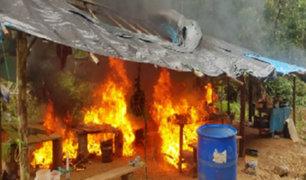 Madre de Dios: destruyen cuatro campamentos usados para minería ilegal