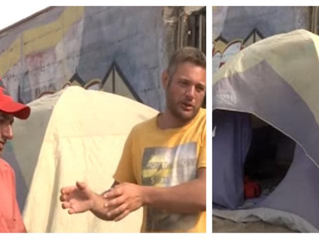 Ciudadanos argentinos viven en carpa en Playa de Chorrillos