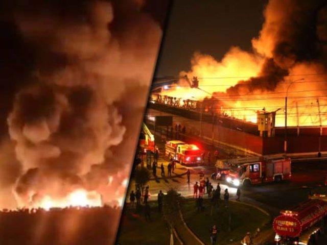 San Juan de Lurigancho: se registró incendio de gran magnitud en Cajamarquilla
