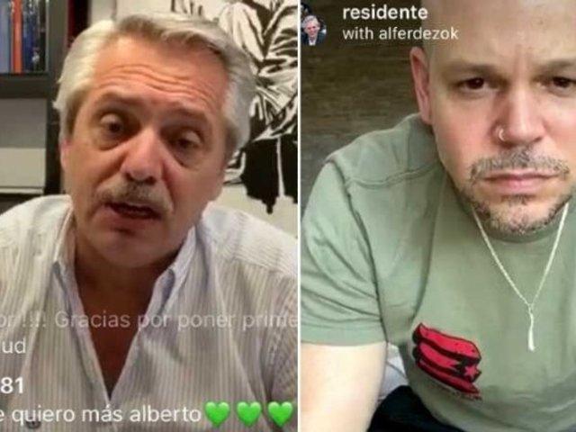 Residente entrevistó al presidente de Argentina sobre medidas contra coronavirus