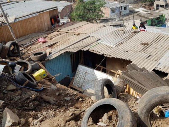 Comas: madre y sus hijos quedan heridos tras derrumbe en su vivienda por lluvia