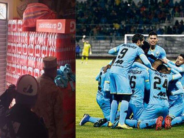 Puno: Binacional regaló botellas de agua y rehidratantes a policías y soldados