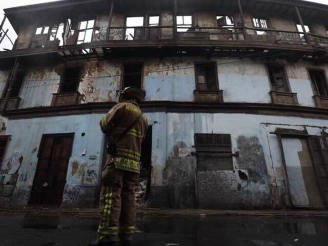 Cercado de Lima: casona histórica 'El Buque' sufrió derrumbe tras nuevo incendio