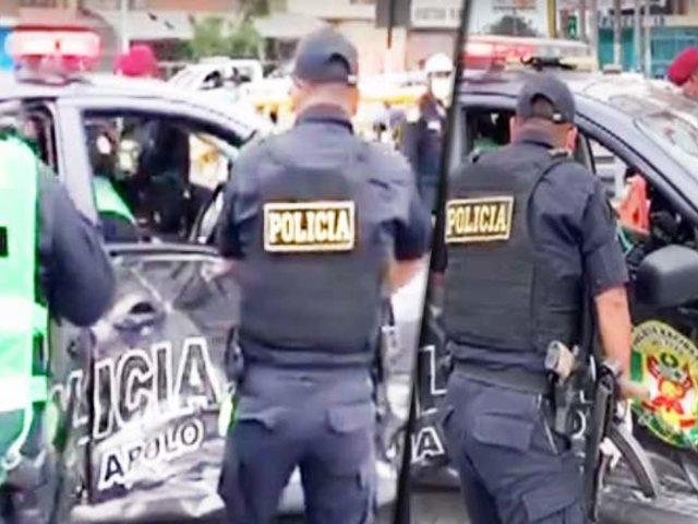 La Victoria: dos patrulleros chocan en la avenida Canadá