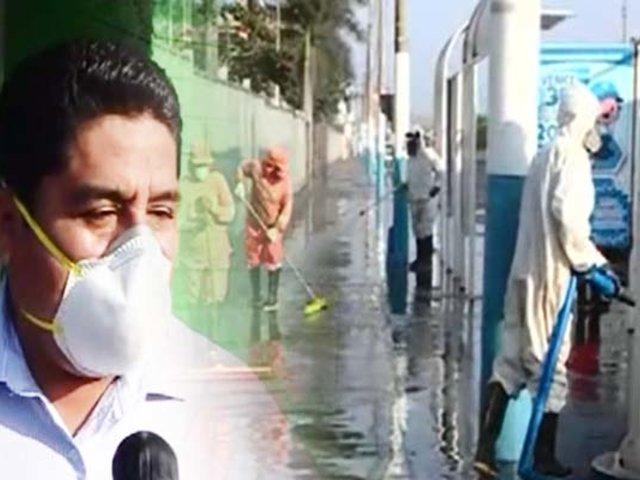 Limpian a fondo el hospital Daniel Alcides Carrión en el Callao
