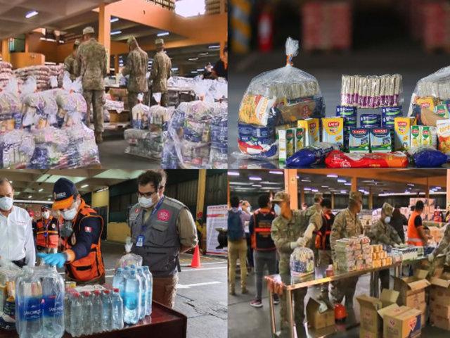 Coronavirus: INDECI y MINDEF entregarán 5 mil kits por día a familias vulnerables