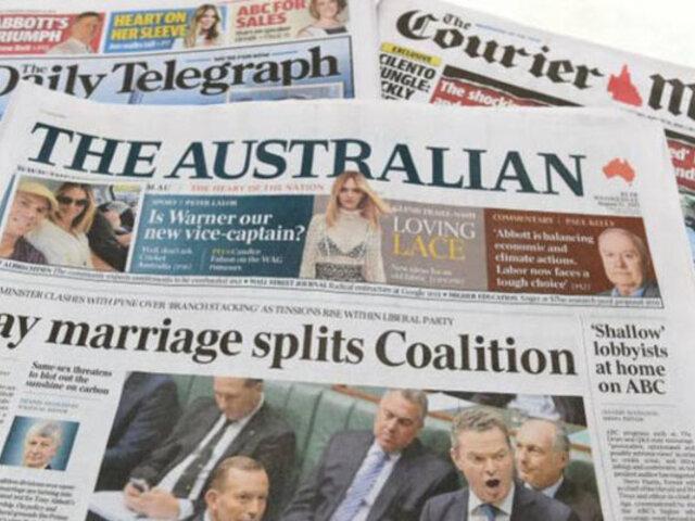 Covid-19: algunos diarios australianos suspenderán ediciones impresas