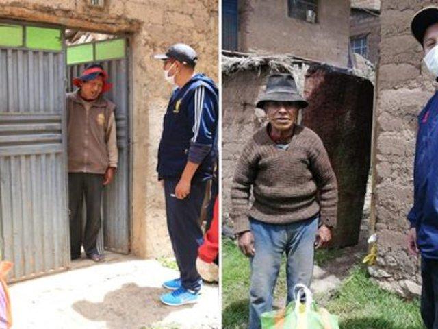 Puno: trabajadores de la Fiscalía donan canastas a familias vulnerables