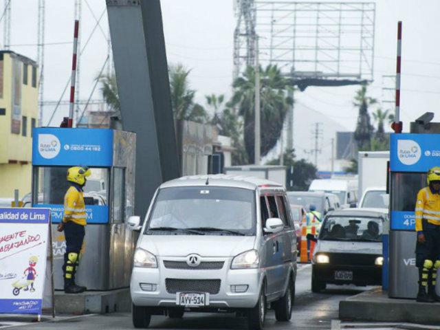 Estado de emergencia: un total de 56 peajes a nivel nacional suspendieron cobro