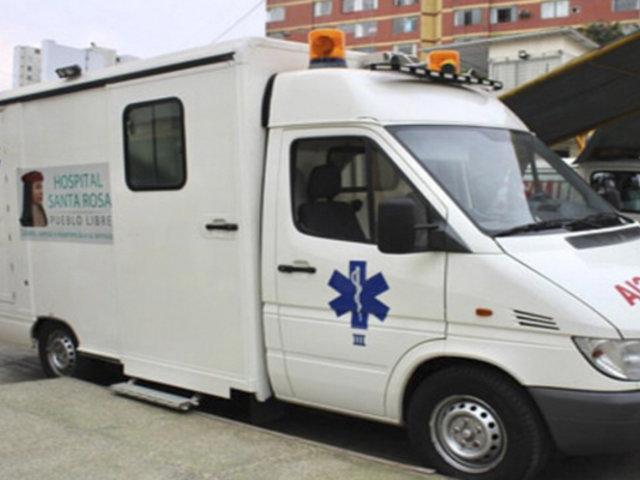 Pueblo Libre: Hospital Santa Rosa presentó moderna ambulancia para trasladar pacientes con COVID-19