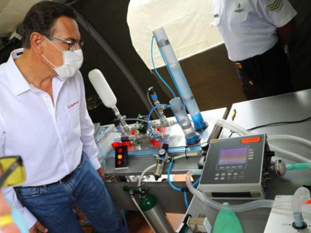 Vizcarra: Profesionales de la Marina han fabricado un respirador artificial