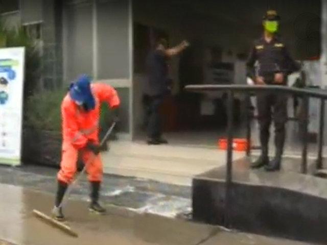 Estado de emergencia: desinfectan comisaría de Miraflores por prevención