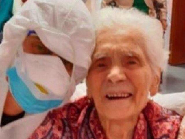 Coronavirus: mujer de 104 años se recupera y su caso brinda esperanza al personal médico