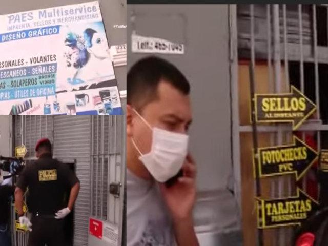 Cuarentena: Imprenta que operaba fue intervenida por Escuadrón Verde en el Callao