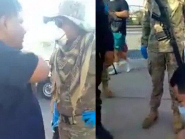 Estado de emergencia: médico y su hijo se resisten y enfrentan a golpes a militares