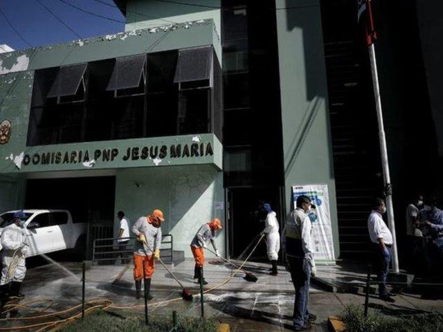 Comisarías de Jesús María y VES fueron desinfectadas para prevenir el coronavirus